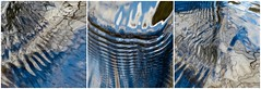 Wings (Edinburgh Nette ...) Tags: water flow ripples wings feathers abstracts reflections rivers