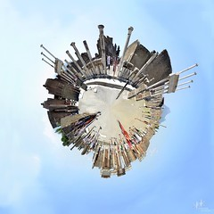 Little Planet: Pompeii, Italy (SpirosK photography) Tags: travel travelling travellog planet 360 360degrees panorama pano 360panoramic polarprojection pompeii italy πομπηια ιταλία ancient ancientroman archeologicalspace archaeology archaelogical ruins