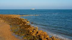 St Helens Beach-EA100631 (tony.rummery) Tags: beach em10 england eveningsun iow isleofwight landscape mft microfourthirds omd olympus rocks sea seascape sthelens unitedkingdom gb