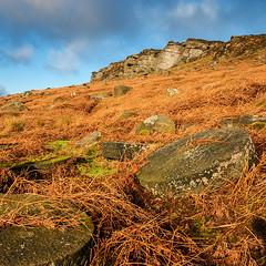 Gritstones and Edge (Geoff France) Tags: landscape hathersage peak peakdistrict gritstone boulders rocks sky derbyshire
