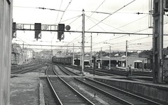 Liege Central station,  20 March 1964 (Diepflingerbahn) Tags: liege belgium edixamatflexs analoguephoto ilfordfp3 35mm film railwaystation garecentral 20031964 1964 blackwhite hauptbahnhof
