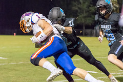 "PVHS v. Bolles '18-76 (mark.calvin33) Tags: football field sport ball ""high school"" ""ponte vedra high pvhs block tackle rush run pass catch receiver blocker ""running back"" quarterback fumble completion reception hike pitch snap ""friday night lights"" fans stands kick ""end zone"" ""nikon d7100"" 2018 win athletics athletes ""night photography"" ""sharks football"""