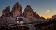 Tre Cime di Lavrado 159 (Brian L55) Tags: landscape dolomites trecime mountains church sunset