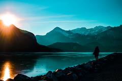 Kananaskis Lake (beyondmyborder) Tags: sunset kananaskis banff canada beautiful nature lake mountains