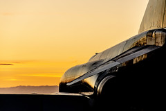 Carlisle Airport Sunset (Charlie Little) Tags: carlisleairport cumbria aviation solwayaviationmuseum night shoot sunsets golden phantom silhouette nikon d7200