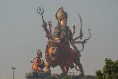 Giant Durga दुर्गा Idol, Vrindavan India (AdamCohn) Tags: adam cohn uttar pradesh adiparashakti amba bhavani devī durga hindu india mathura parvati shakti shaktism vrindavan yogmaya diety god goddess holi idol lion statue temple wwwadamcohncom दुर्गा দুর্গা adamcohn uttarpradesh govardhan