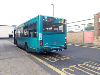 Arriva North East 1766 which has had its full rear adremoved and now looks awfull