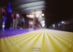 Platform (Mister Blur) Tags: platform subway metro station low pointofview pov shallow depthoffield dof bokeh dots blur blurry lights yellow blue amarillo azul zoé approaching train montréal québec canada desenfoque borroso nikon d7100 35mm f18 snapseed rubén rodrigo fotografía profundidaddecampo