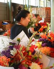 Flower Ladies (dnborgman) Tags: flowers seattle pikeplacemarket people