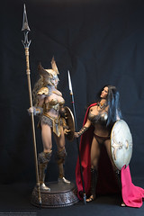 Skarah the Valkyrie Photo Review (edwicks_toybox) Tags: 16scale arhcomix skarahthevalkyrie tbleague blonde braid executivereplicas femaleactionfigure impracticalarmor metalbikini phicen shield spear sword viking warrior
