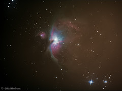 Messier 42 (The Orion Nebula) (raven fandango) Tags: astrology astronomy astrophotography astro imaging canon 70d eos deep space sky dso orion nebula m42 england uk celestron avx telescope long exposure outdoor hertfordshire herts messier prime focus nature night evening object blue red dust photography photo photos stars star dark galaxies galaxy advanced 2018 october winter