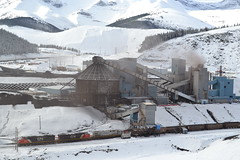 Loaded coal (jc nadeau) Tags: cadomin canada canadian luscar leyland alberta ab mining mine mines coal cn cnr rail railroad railway snow trains train transport unit mountain park 5480 2163 crex 1514 cardinal river