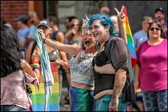 Born This Way Pride - Ottawa Pride 2018 (Dan Dewan) Tags: 2018 canonef70200mmf14lisusm dandewan face street people person canon colour tattoo police man ottawa summer sunday pride portrait woman august ontario canada glasses bankstreet ottawapride lady