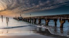 Sunset Seascape (Merrillie) Tags: landscape sunset seashore water coogeebeach sea sun wharf beach ocean light westernaustalia twilight coastal waterscape sky seascape jetty coast clouds seaside