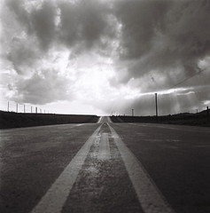 Road (Semjaja) Tags: road clouds storm blackandwhite blackandwhitephotography blackandwhitefilm film filmlives filmsnotdead filmphotography ishootfilm shootfilm shotonfilm onfilm rolleicordiv rollei xenar3575mm ilford ilforddelta100 delta100 tlr paarl southafrica