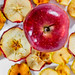 Dried fruits from apples with fresh Apple