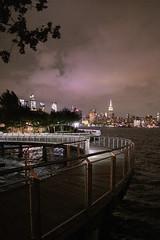 US NJ Hoboken - views of NYC skyline from Pier C Park (David Pirmann) Tags: nj newjersey hoboken river hudsonriver nyc newyorkcity night skyline piercpark favorite samsung nx1100 empirestatebuilding hudsonyards