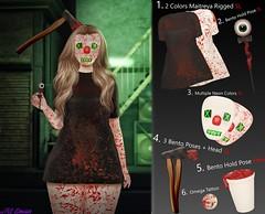 :: MS Design :: Spooky Cute Hunt Items (Maddison Skute) Tags: msdesign msd halloween cute kawaii sick gory clown blood dress maitreya