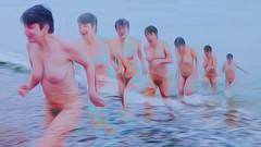 Bildschichten am Strand 14 (wos---art) Tags: bildschichten ostsee strand akt baden schwimmen frauenakt sommer frühling herbst winter nude nackt badende ohne unbekleidet