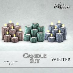 Candle Set Winter (mythmainstore) Tags: mainstore sl candle mainstoresl