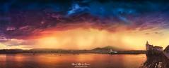 Tormenta en Arriluze (Mimadeo) Tags: getxo sunset basque country basquecountry biscay euskadi sky arriluze spain paisvasco clouds vizcaya bizkaia arriluce neguri dramatic lighthouse stormy storm rain panorama panoramic