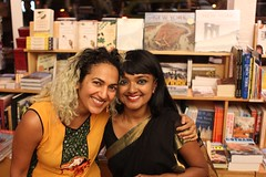 with Tanwi (olive witch) Tags: 2015 aug15 august booklaunch books bookstore fem indoors night nyc pair