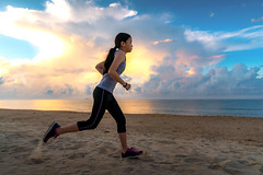 Asian girl run on the beach (I love landscape) Tags: running beach woman lady background morning sea young jogging sunset runner girl workout view fitness silhouette horizon slim side female sun sport active lifestyle body sunrise marathon activity people healthy person health water adult beautiful sky weight space outdoor athlete exercising care copy motion outside weightloss mountain asia asian thai