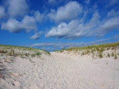 Dunes (karsheg) Tags: beach sanddune sand scenery september ocean islandbeachstatepark newjersey nature outdoors clouds sky