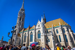 The Church of the Assumption of the Buda Castle, more commonly known as the Matthias Church, more rarely the Coronation Church of Buda, is a Roman Catholic church located in the Holy Trinity Square, Budapest, Hungary.