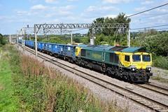 66418 'Patriot' 6H35 Weaver Junction (cmc_1987) Tags: 66418 6h35 weaverjunction class66 britishrailclass66 freightiner geneseewyoming shed runcorn