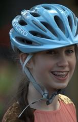 Bicycle Helmet (Scott 97006) Tags: girl kid helmet smile head gear bokeh braces eye young giro
