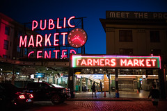 Pike Place (Mr_Andre) Tags: 2018 seattle sign wa washington fish neon night pikeplace pikeplacefish pikeplacemarket seafood twilight unitedstates us