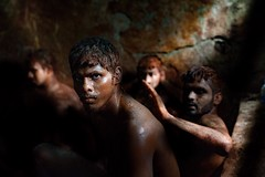 Kushti wrestlers, Mumbai (silvia.alessi) Tags: jim fighters light sand people picture portrait faces men india asia mumbai wrestlers