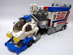 Lego moc - DX SUGOLEGERD 10v5000 スゴウレガード10V5000 (c_s417) Tags: lego moc bricks asurada 高智能方程式 閃電霹靂車 阿斯拉 雷神 race cars lorry japan japanese