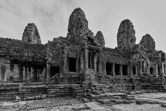 Bayon – Temple (Thomas Mülchi) Tags: bayon temple angkor siemreap cambodia 2018 siemreapprovince angkorthom hdr architecture bw monochrome krongsiemreap kh