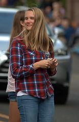 Looking That Way (Scott 97006) Tags: woman female lady blonde plad road pretty street walk