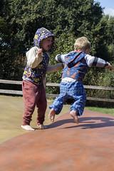 Leap (quinn.anya) Tags: sam paul toddler kindergartener jumpingpillow jellystonepark