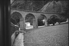 Brusio viaduct (vladixp) Tags: fomapan 200 xtol praktica mtl5 mc flektogon 24 35 hoya hmc k2 foma fomapan200 pf7250u 3600dpi 35mm yellowfilter filmscan 35mmfilm film bw bwfilm filmphotography negative scanned graubünden grigioni grisons svizzera schweiz switzerland suisse brusio