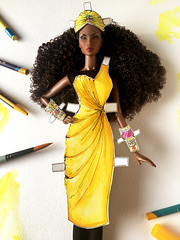 A-Z Challenge 2.0: Y - Yellow (doll_enthusiast) Tags: fashion royalty fr integrity toys it adele makeda the faces 30 doll photography drawing collecting dolls