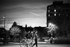L1039229 (Daniele Pisani) Tags: milano politecnico tramonto ragazzi bici camminano milan sera finestre
