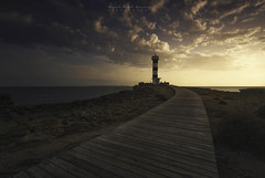 Faro Colonia de Sant Jordi. Ses Salines (Miguel Ángel Giménez-Murcianico) Tags: islas baleares illes balears filtros haida hitech atardecer camino