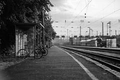 DSCF2448 (Varga Ádám (Vadam)) Tags: car photo photography vargaadamfoto youth professional hungary magyar fotos budapest fuji fujinon fujifilm fujixf xf fujixt2 xt2 fujilove mirrorless fuji56mm fujinon56 fuji56 dof bokeh depth tones monochrome blackandwhite fineart train station bycicle bridge sky lines