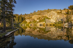 BareIslandLake7Sept1-18 (divindk) Tags: bareislandlake california maderacounty sierranationalforest backpacking camping granite lake quiet reflection serene sunlight sunset