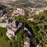 Aerial drone shot of Castelo Dos Mouros thumbnail