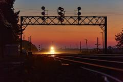 Nelson Glints (benpsut) Tags: genevasub searchlights sunset up upgenevasub unionpacific backlight backlit dusk glint railroad trains