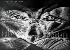 夜の沈黙 (alice 240) Tags: 夜の沈黙 illustration nightsilence visualart visualpoetry modernart drawing expression surreal expressionism surrealism museum contemporaryart artist gallery mixedmedia traditionalart artistic alice240 atelier240art art alicealicjacieliczka