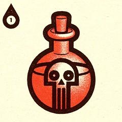 Inktober - Day #1 - Poisonous. (alexeizm{alexei vella}) Tags: texture experiment vector vectorart personal illustrator illustration art graphic design test retro alexei alexeivella inktober inktober2018 inktoberday1 poisonous poison
