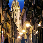 At night in Oviedo, Spain thumbnail