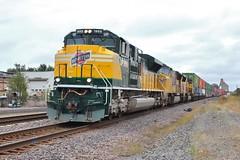 Northwestern heritage (gsebenste) Tags: unionpacific up chicagoandnorthwestern heritageunit trains coalchute dekalb illinois