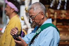 a man in festival (kasa51) Tags: people street portrait festival kawagoe japan 川越まつり 鯔背 いなせ tamronaf70300mmf456divc